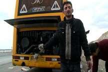 اتوبوسی که به جای بنزین آب سوختگیری کرد