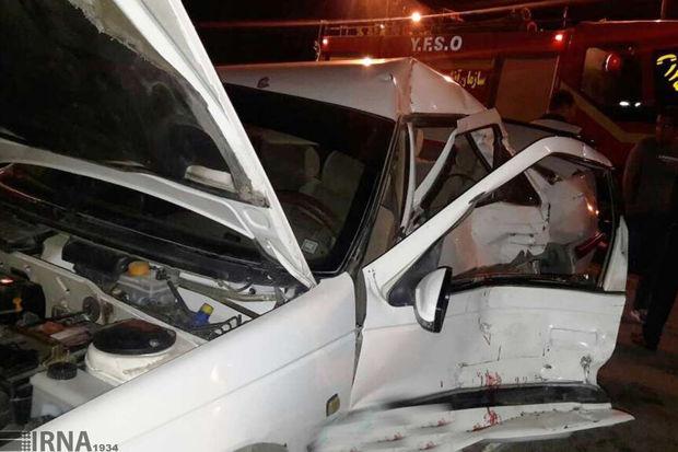واژگونی خودرو درآزادراه قم - تهران دو کشته برجای گذاشت