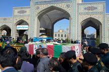 پیکر یک جانباز شیمیایی دفاع مقدس در مشهد تشییع شد