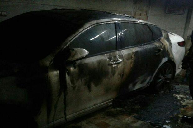 آتش سوزی خودرو درقزوین سه مصدوم بر جا گذاشت