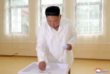 رهبر کره شمالی پای صندوق رأی+عکس