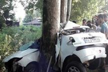 تصادف مرگبار در تونل سبز فومن  کشته شدن راننده و سرنشین خودرو