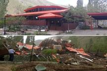 تخریب ویلا در حاشیه رودخانه جاده چالوس