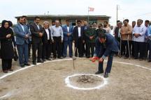 عملیات اجرایی یک مدرسه روستایی خیرساز در گنبدکاووس آغاز شد