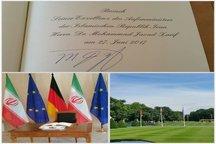 دیدار ظریف با رییسجمهور آلمان