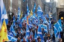 تظاهرات بزرگ اسکاتلندی های برای جدایی از انگلیس+عکس