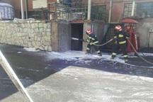 مهار مخزن 15 تنی مواد سوختی توسط آتش نشانی هشتگرد
