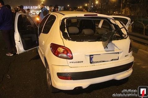 ۵ خودرو در بزرگراه حکیم تصادف کردند+ تصاویر