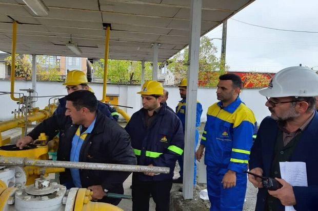رزمایش مهار پارگی لوله گاز در آستارا برگزار شد