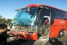 برخورد اتوبوس با درختان در جاده هراز 10 مجروح برجای گذاشت