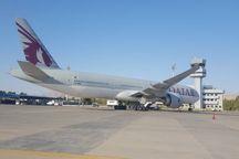 هواپیمای قطری فرودگاه شیراز را به مقصد دوحه ترک کرد