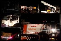 مهار آتش سوزیِ پست برق ایذه باعث جلوگیری از خسارات به دیگر تجهیزات پست شد