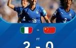 پیروزی تیم ملی زنان ایتالیا مقابل چین و صعود به یک چهارم نهایی جام جهانی