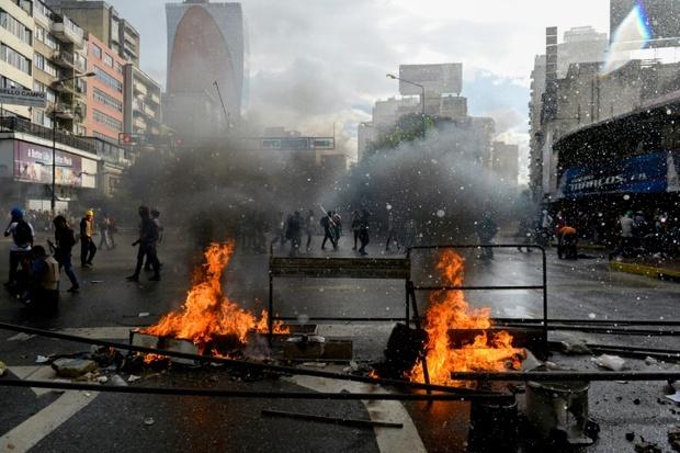عکس/ اوضاع پرتنش در ونزوئلا