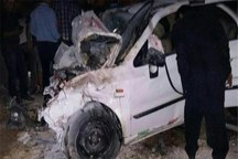 حادثه رانندگی بزرگراه ساوه به تهران 2 کشته داشت