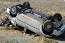 مصدومیت هفت نفر بر اثر واژگونی خودرو ال 90  در اتوبال قزوین- زنجان