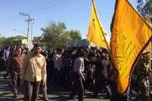 پیکر دو شهید مدافع حرم در کاشان به خاک سپرده شد