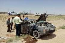 واژگونی خودرو پنج مصدوم بر جای گذاشت