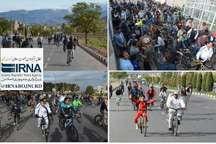 700دوچرخه سوار اسفراینی  برای زندگی سالم و با نشاط و امید رکاب زدند