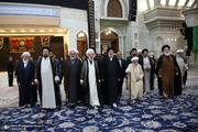 تجدید میثاق هیأت رئیسه و اعضای مجلس خبرگان رهبری با آرمان های امام خمینی(س)