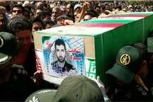 پیکر مطهر سرهنگ شهید یاسین قنبری در ارومیه تشییع شد