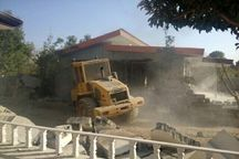 ۳۵ مورد ساخت و ساز غیرمجاز در مشکین دشت تخریب شد