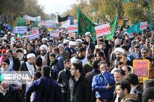 راهپیمایی اقتدار و دفاع از امنیت در مهریز برگزار شد