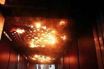 آتش سوزی آسانسور یک واحد مسکونی در قزوین مهار شد