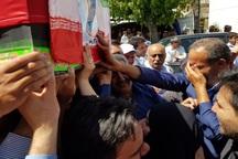 پیکر مطهر شهید مرزبانی پیرانشهر در زادگاهش تشییع شد