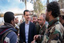 بازدید بشار اسد از خط مقدم جبهه غوطه شرقی+تصاویر