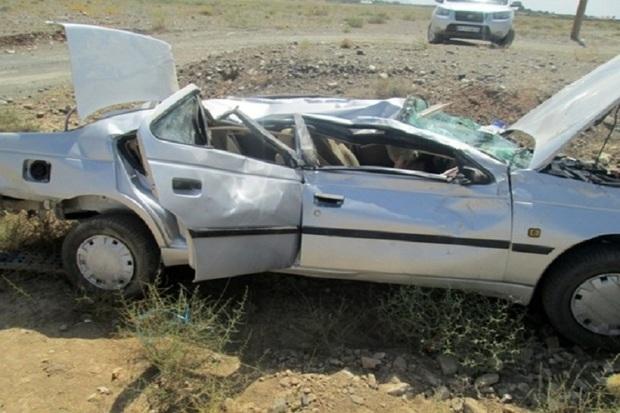 واژگونی خودرو در سگزی 5 مصدوم برجا گذاشت