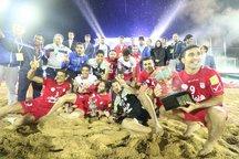 قهرمانی مسابقات بین المللی فوتبال ساحلی پرشین کاپ به ایران رسید