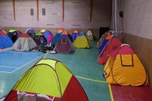 مسافران نوروزی در مکان های ورزشی استان اسکان یافتند