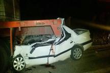 برخورد سواری با تریلر در چهارمحال و بختیاری 3 کشته برجا گذاشت