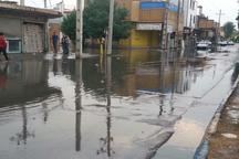 بارندگی در شوش موجب آبگرفتگی معابر شد