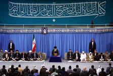 رهبر معظم انقلاب: آمریکا نخواهد توانست برای کشورها و امت اسلامی، خط و نشان بکشد و آنها را تهدید کند