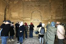 گردشگران فرانسوی از بناهای تاریخی قزوین دیدن کردند