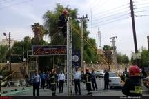 آئین تجلیل از آتش نشانان دزفول برگزار شد + عکس