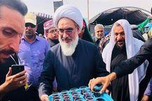 پذیرایی امام جمعه بوشهر از زائران اربعین حسینی