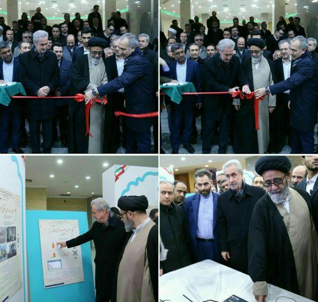 """نمایشگاه """"دستاوردهای 40 ساله انقلاب اسلامی ایران"""" در تبریز گشایش یافت"""