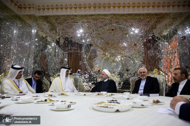 روحانی: تهران خواهان توسعه بیش از پیش روابط با دوحه است/ امیر قطر: دوحه برای توسعه روابط با تهران در همه حوزه های مورد علاقه آماده است