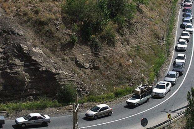 ترافیک جاده کرج - چالوس نیمه سنگین است