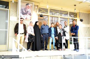 بازدید گردشگران نوروزی از بیت امام خمینی(س) در جماران