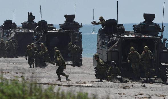 عکس/ نخستین مشارکت ژاپن در یک رزمایش نظامی خارجی