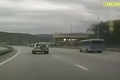 لحظه پرت شدن راننده به بیرون از خودرو بدلیل نبستن کمربند ایمنی