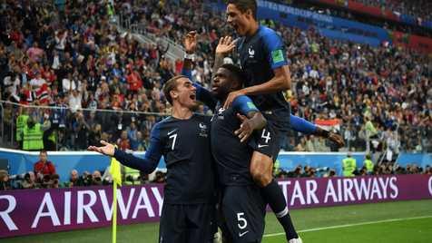 """""""اومتیتی"""" بهترین بازیکن دیدار بلژیک و فرانسه"""