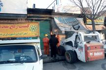 اجرای 1055 مورد رفع سد معبر منطقه شش مشهد در راستای احقاق حقوق شهروندی