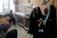 اجرای طرح قصه درمانی در بیمارستان امام رضا(ع)