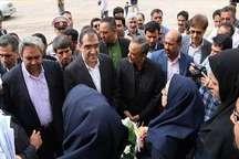 وزیر بهداشت 2 طرح بیمارستانی را در بافت افتتاح کرد