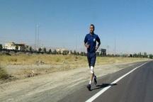 ورود دونده سفیر صلح و دوستی به قزوین